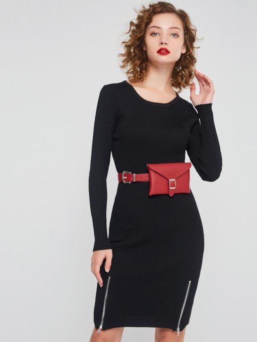 Long Sleeves Pullover Women's Bodycon Dress