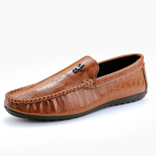 Round Toe PU Slip-On Soft Comfy Men's Loafers