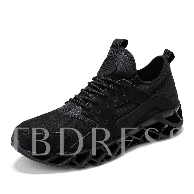 Lace-Up Round Toe Mid-Cut Upper Lightweight Men's Running Shoes