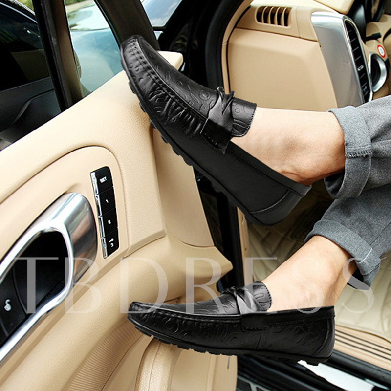 PU Slip-On Round Toe Casual Exquisite Men's Loafers