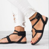 Block Heel Strappy Casual Flat Sandals for Women
