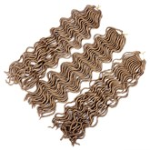 Crochet Braids Hair Extension Synthetic Braiding Faux Locs Curly Hair 24 Strands/Pack