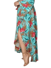 Print Plant Ankle-Length Expansion Travel Look Women's Skirt