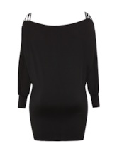 Plus Size Lantern Sleeve Bodycon Dress