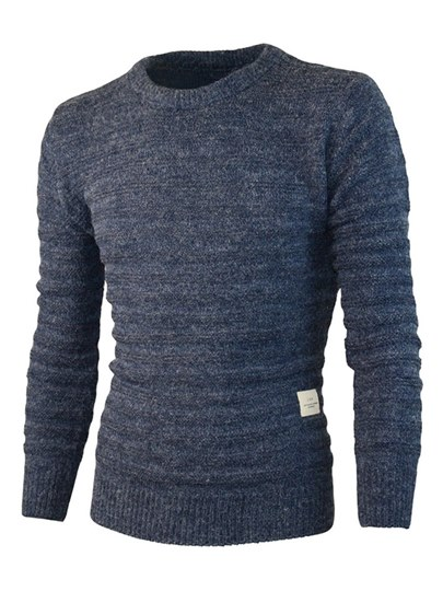 Solid Color Loose Leisure Men's Sweater