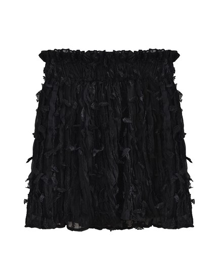 Feather Ruffled Petals Women's Mini Skirt