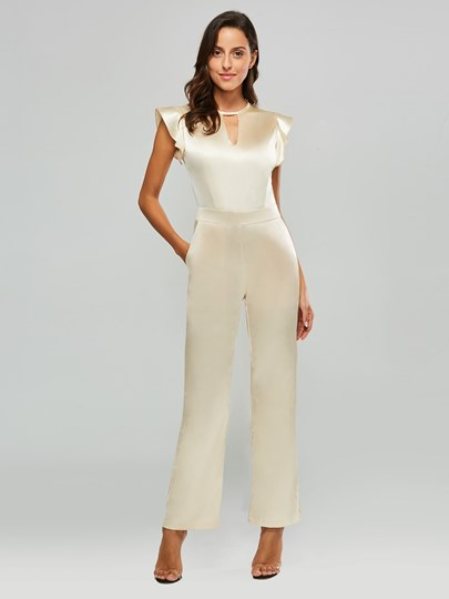 Sparkle Flight Sleeve Hollow Women's Jumpsuit