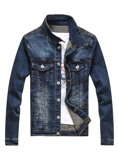Lapel Classic Slim Men's Denim Jacket