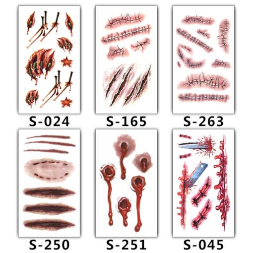 Multiple Pop Pattern Tattoo Stickers