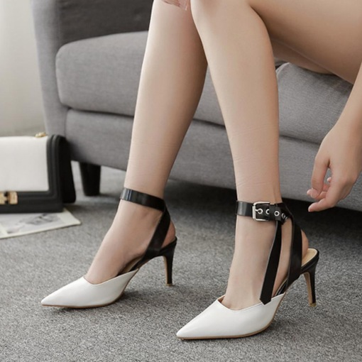 Stiletto Heel Ankle Strap Closed Toe Special Women's Sandals