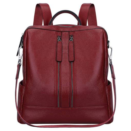 Casual Plain Embossing Zipper Backpack