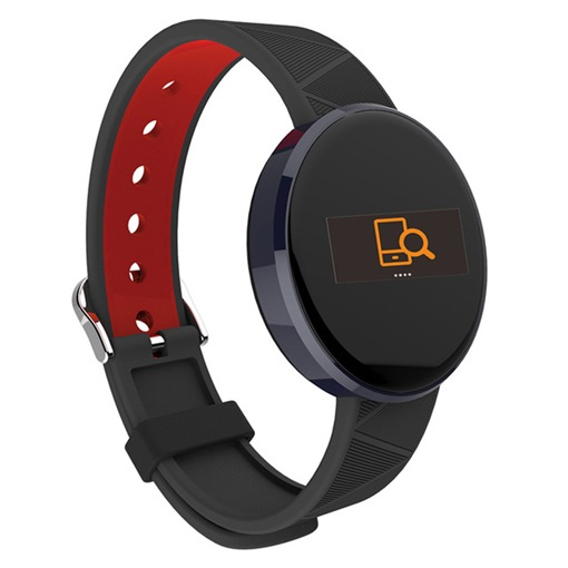 S12 Smart Bracelet Round Screen Hardware Shell Two-color Strap Sports Step