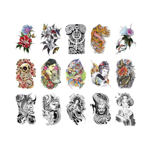 Colorful Water Resistant Tattoo Stickers