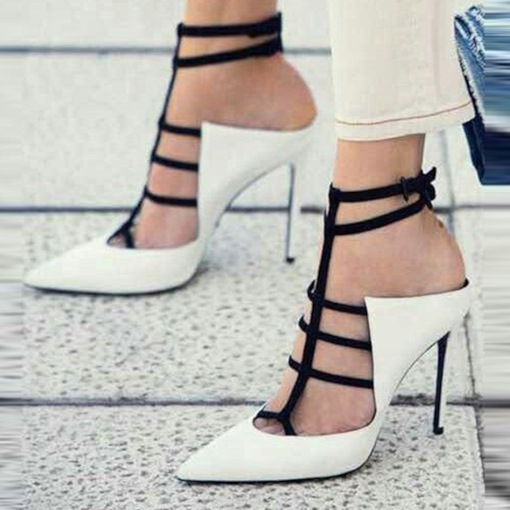 Stiletto Heel Closed Toe Strappy Sexy Women's Sandals