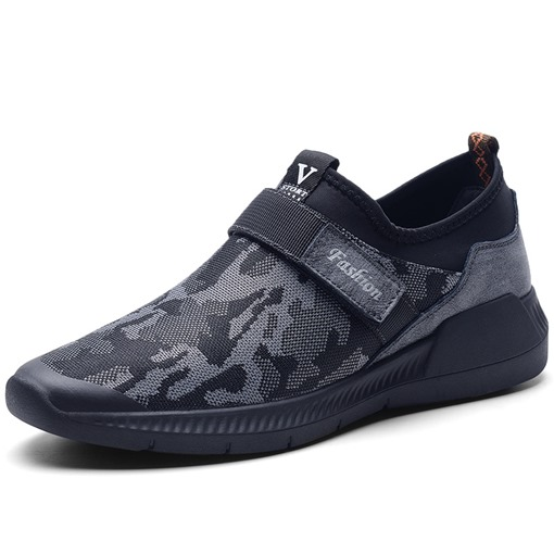 Camouflage Round Toe Velcro Casual Men's Sneakers