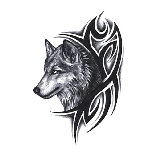 Wolf Brachial Tattoo Stickers