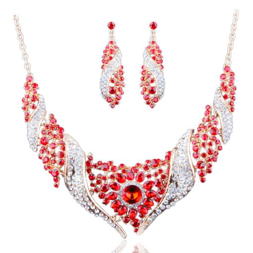 Sparkling Colorful Alloy Full Drill Jewelry Sets