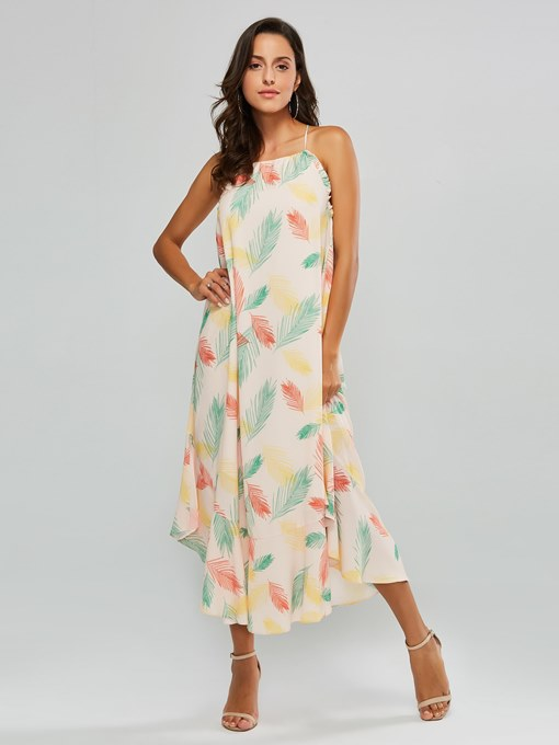 Floral Prints Sleeveless Women's Maxi Dress