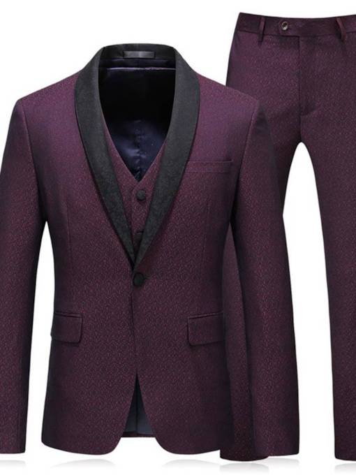 Three Piece Luxury Classic Men's Dress Suit