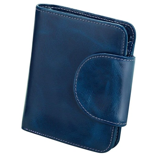 Plain Rectangle Hasp Short Wallet