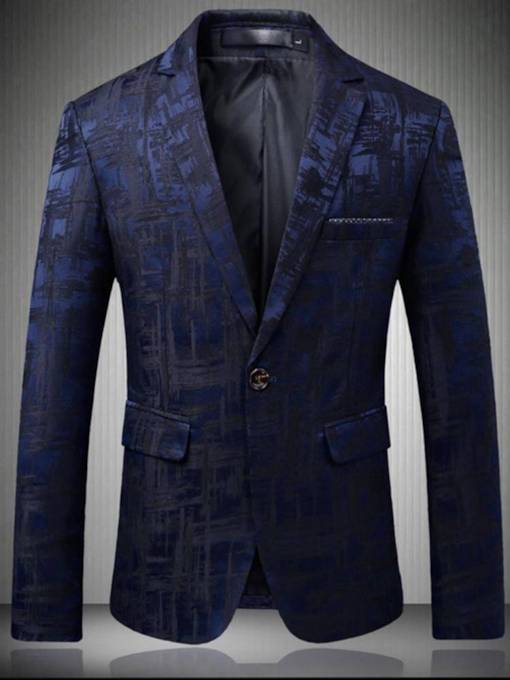 Vintage Slim Print Men's Luxury Blazer