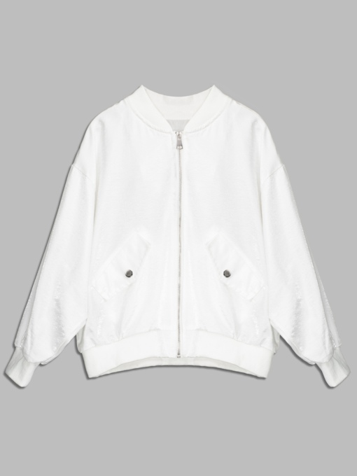 Embroidery Pocket Loose Patchwork Women's Jacket