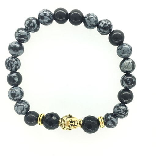 Natural Beads Buddha Head Bracele