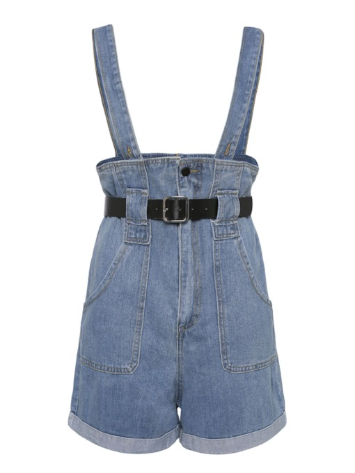 Denim Short Edge Women's Overalls