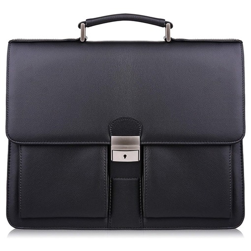Modern Style PU Lock Men's Business Bag