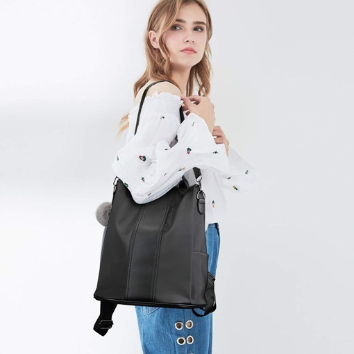 Fashion Color Block Zipper Women Backpack