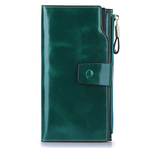 Plain Buckle Rectangle Long Wallet