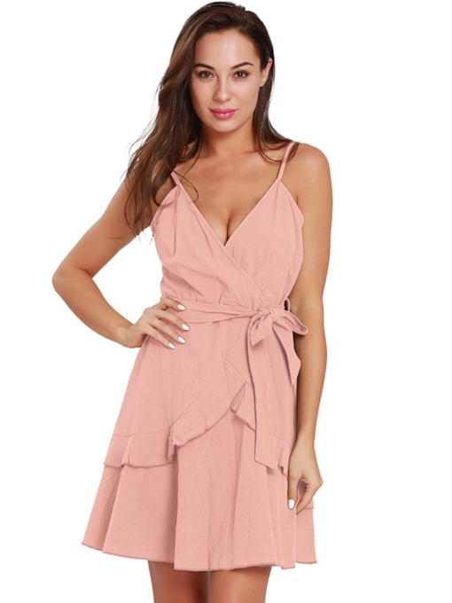 Backless Lace up Strappy Women's Sexy Dress