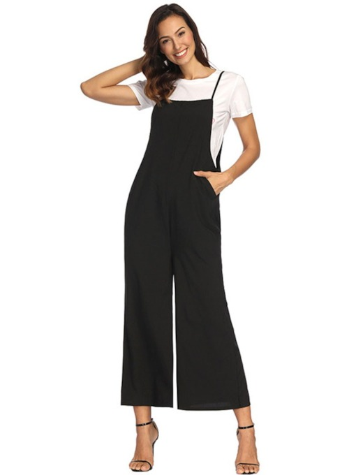Casual Loose Fit Spaghetti Strap Sexy Women's Jumpsuit