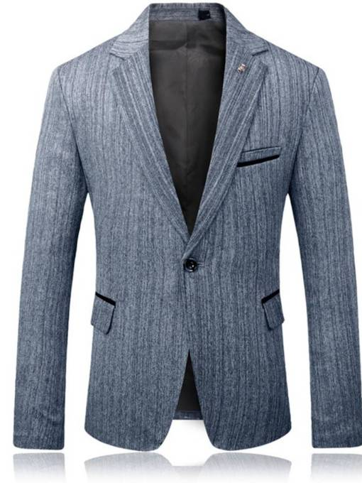 England Style One Button Slim Fit Men's Blazer