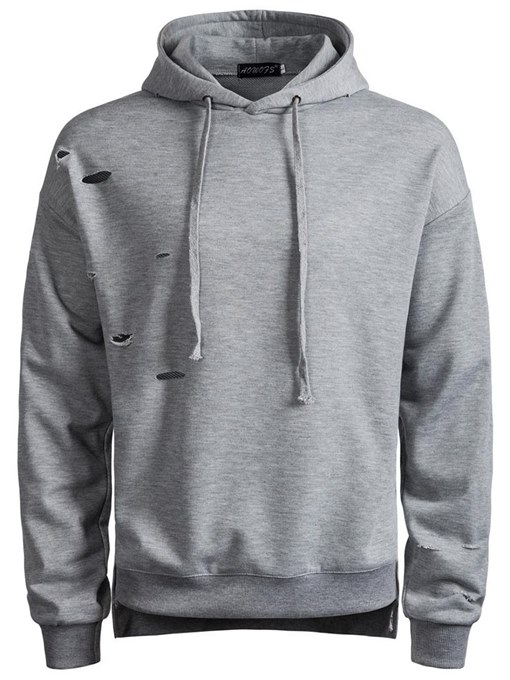 England Style Hooded Solid Color Men's Hoodie