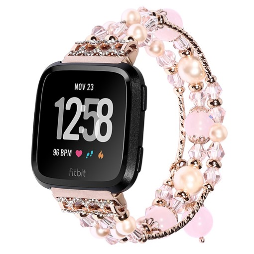 Fashion Smart Watch Band Jewelry Agate Handmade Strap for Fitbit Versa