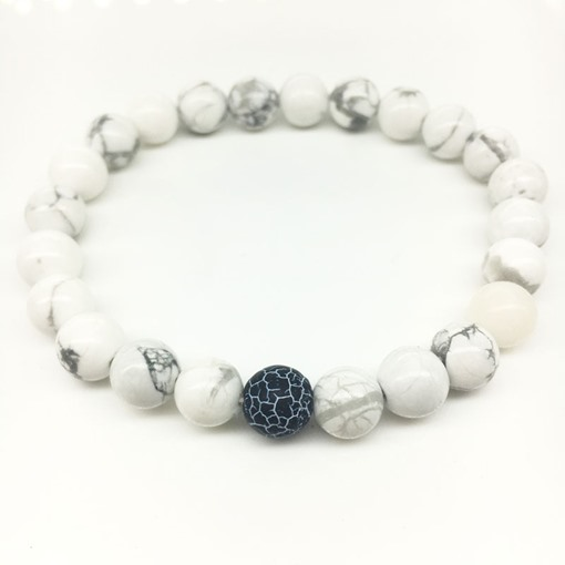 Special Natural White Turquoise Bracelet