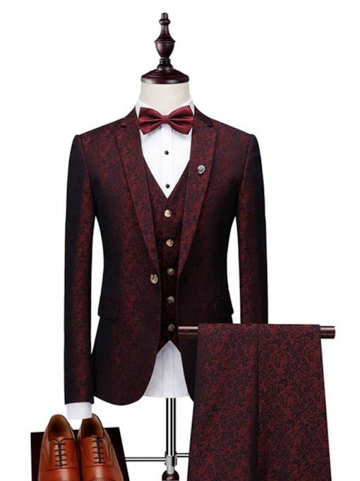 England Style Luxury Classic Slim Men's Dress Suit