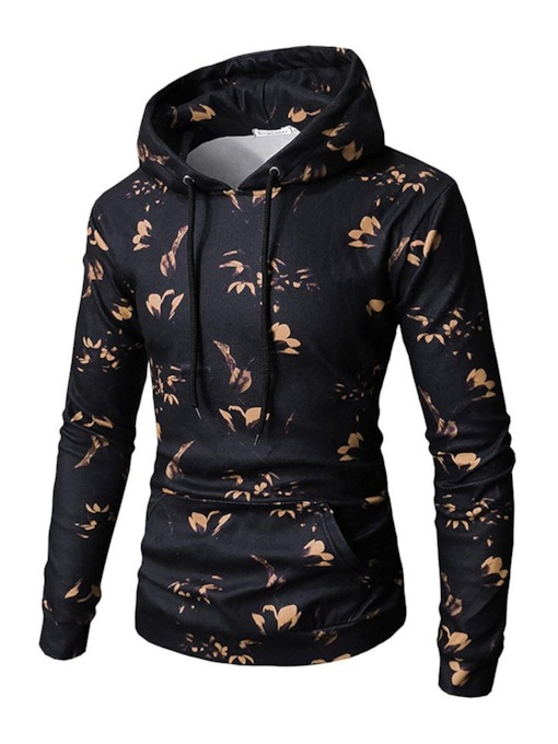Kangaroo Pocket Hooded Print Men's Hoodie