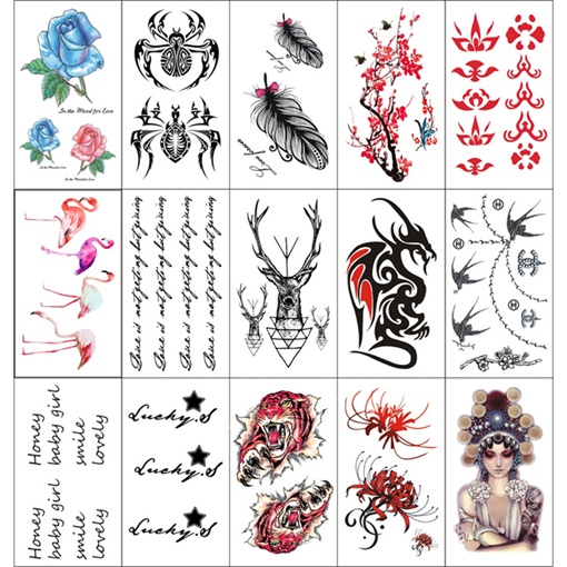 Water Resistant Tattoo Stickers