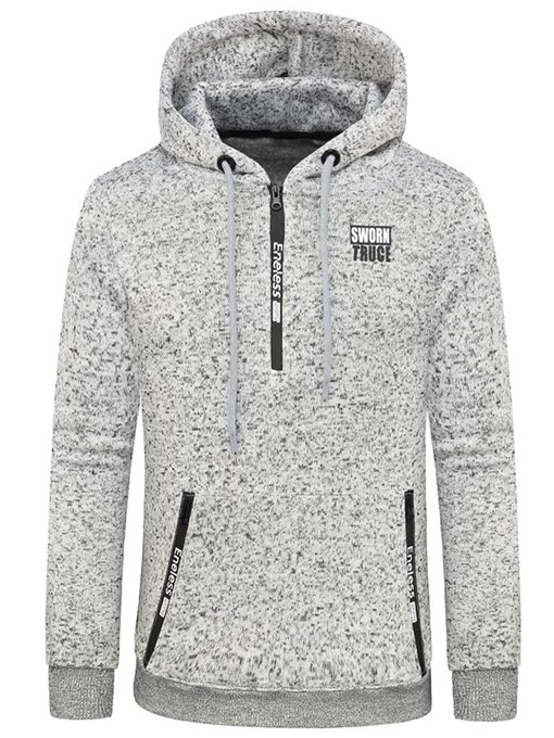 Hooded Side Pocket Plain Men's Sweatshirt