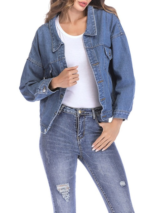 Bukle Bow Tie Back Women's Denim Jakcet
