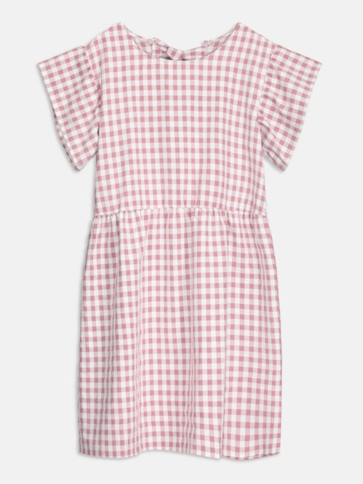 Round Plaid Women's Day Dress
