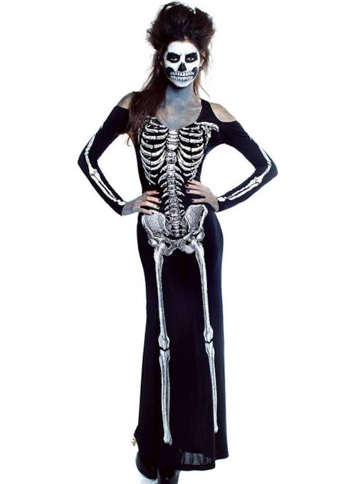 Scary Skull Zombie Halloween Costume