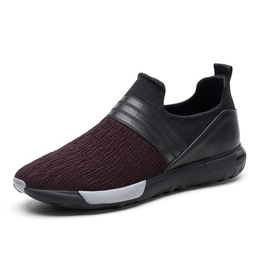 Round Toe Slip-On Patchwork Casual Lightweight Men's Sneakers