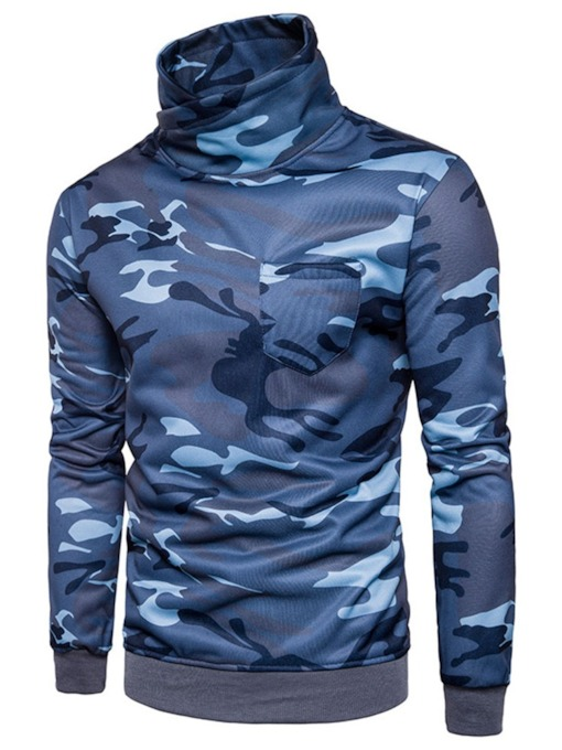Turtleneck Camouflage Men's Sweatshirt
