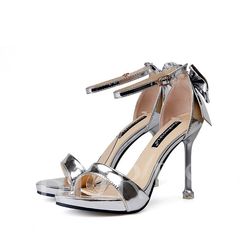 Buy Open Toe Heel Covering Stiletto Heel Bow Sexy Women's Sandals, Spring,Summer, 13339552 for $39.95 in TBDress store