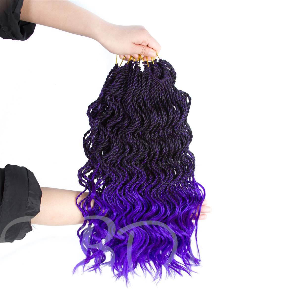 Curly Senegalese Twist Crochet Hair Extension Synthetic Braiding Hair 18 Inches