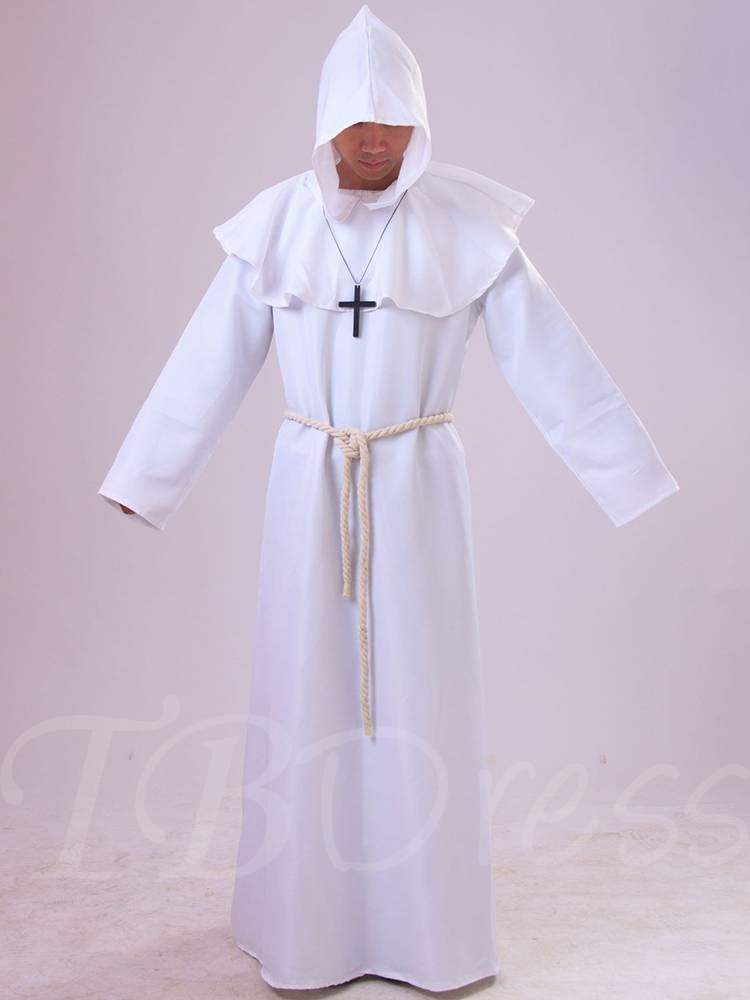 Easter Falbala Plain Pastor Robe Costume