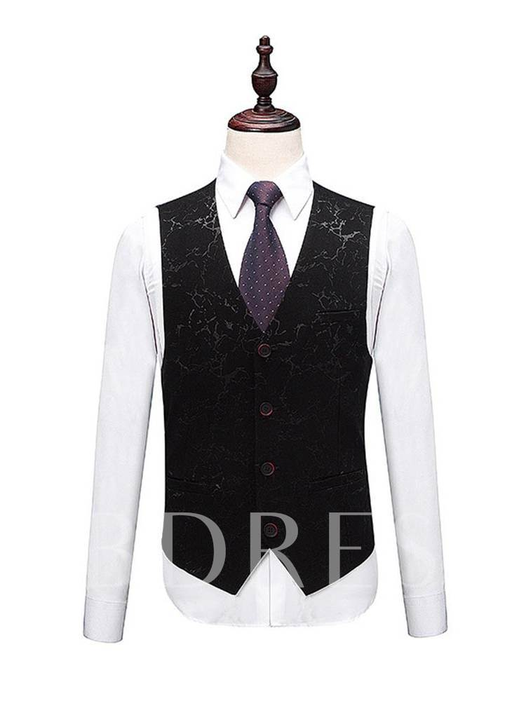Three Piece Print Classic Slim Men's Dress Suit